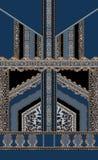 Lyxiga barocka blåa svarta för stilversace för design sömlösa rokokor royaltyfri illustrationer