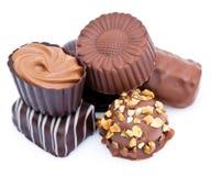 Lyxiga choklader Fotografering för Bildbyråer