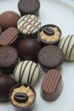 lyxiga choklader Arkivfoto