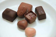 lyxiga choklader Royaltyfria Bilder