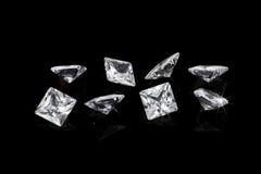 Lyxiga diamanter Fotografering för Bildbyråer