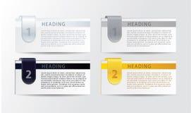 Lyxiga framstegkort för vektor för din affär. Realistisk känselförnimmelse. Arkivbilder