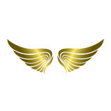 Lyxiga guld- Wing Vector vektor illustrationer