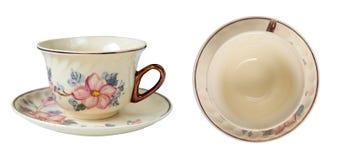 Lyxiga koppar för porslintappningte med härlig blom- design Royaltyfri Bild