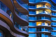 Lyxiga lägenheter i London, UK arkivbild