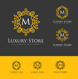 Lyxiga Logo Letters Royaltyfria Bilder