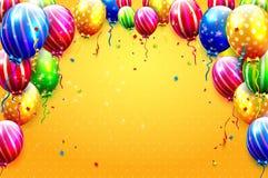 Lyxiga partiballonger stock illustrationer
