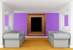 lyxiga sofas för galleri stock illustrationer
