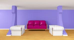 lyxiga sofas för galleri royaltyfri illustrationer