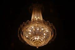 Lyxigt av ljuskronan Royaltyfri Foto