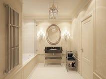 Lyxigt badrum Arkivfoto