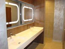 Lyxigt badrum i klassiska färger fotografering för bildbyråer