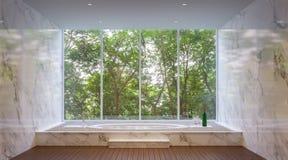 Lyxigt badrum i naturen Royaltyfri Fotografi