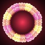 Lyxigt berömkort med den färgrika ballongen Fotografering för Bildbyråer