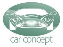 Lyxigt bilcirkelbegrepp Arkivfoto