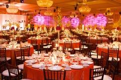 lyxigt bröllop för mottagandeinställningstabell Arkivfoto