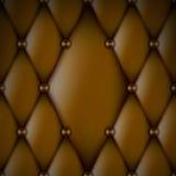 Lyxigt brunt läder Royaltyfri Bild
