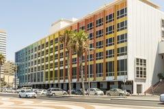 Lyxigt fem-stjärna hotell i semesterortområdet av Tel Aviv Royaltyfri Fotografi