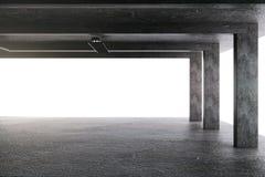Lyxigt garage med kolonner stock illustrationer