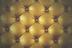 Lyxigt guld- läder Arkivfoton