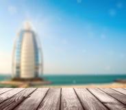 Lyxigt hotell Burj Al Arab Tower av araberna Arkivfoto