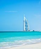 lyxigt hotell för 7 stjärna på den Dubai stranden Royaltyfri Foto