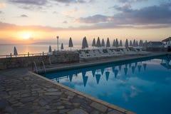 Lyxigt hotell Grekland Arkivbild