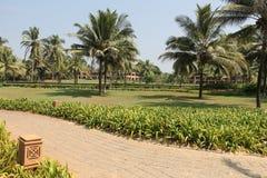 Lyxigt hotell i Goa, Indien Royaltyfri Bild