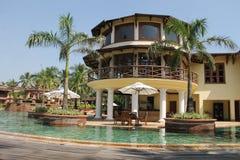Lyxigt hotell i Goa, Indien Fotografering för Bildbyråer