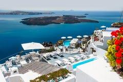 Lyxigt hotell med havssikt Arkivbilder