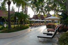 Lyxigt hotell på stranden Arkivbild