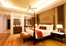 Lyxigt hotellrum Fotografering för Bildbyråer