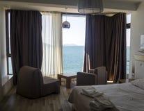 Lyxigt hotellrum i Albanien Arkivbild