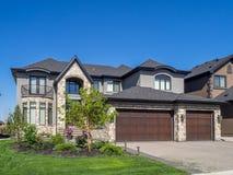 Lyxigt hus, Calgary Arkivfoton