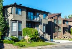 Lyxigt hus i Montreal Royaltyfria Bilder