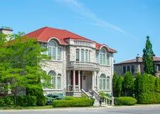 Lyxigt hus i Montreal, Kanada Arkivbilder