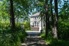Lyxigt hus i Montreal, Kanada Royaltyfria Bilder