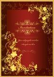 Lyxigt inbjudankort för din design Stock Illustrationer