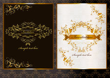 Lyxigt inbjudankort i mörk och ljus färg Royaltyfri Illustrationer