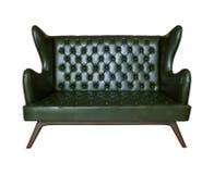 Lyxigt isolerad white för sofa läder Royaltyfri Foto