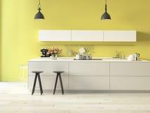 Lyxigt kök med rostfritt stålanordningar royaltyfri foto