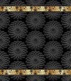 Lyxigt kol och guldbokomslag Royaltyfri Bild