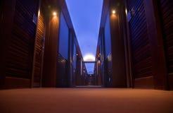 lyxigt korridorhotell Arkivfoto