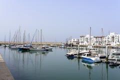 Lyxigt marinaområde Arkivfoton