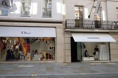 Lyxigt mode Dior och Chanel royaltyfri bild