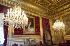 Lyxigt rum för härliga Napoleon III lägenheter Arkivfoto