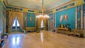 Lyxigt rum i den Norman Palace Palazzo deien Normanni i Palermo italy sicily royaltyfria bilder