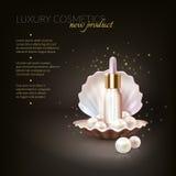 Lyxigt skönhetsmedelpärlabegrepp royaltyfri illustrationer