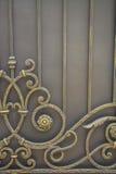 Lyxigt smidesjärnstaket Detail royaltyfri fotografi