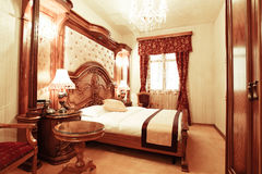 Lyxigt sovrum arkivbilder